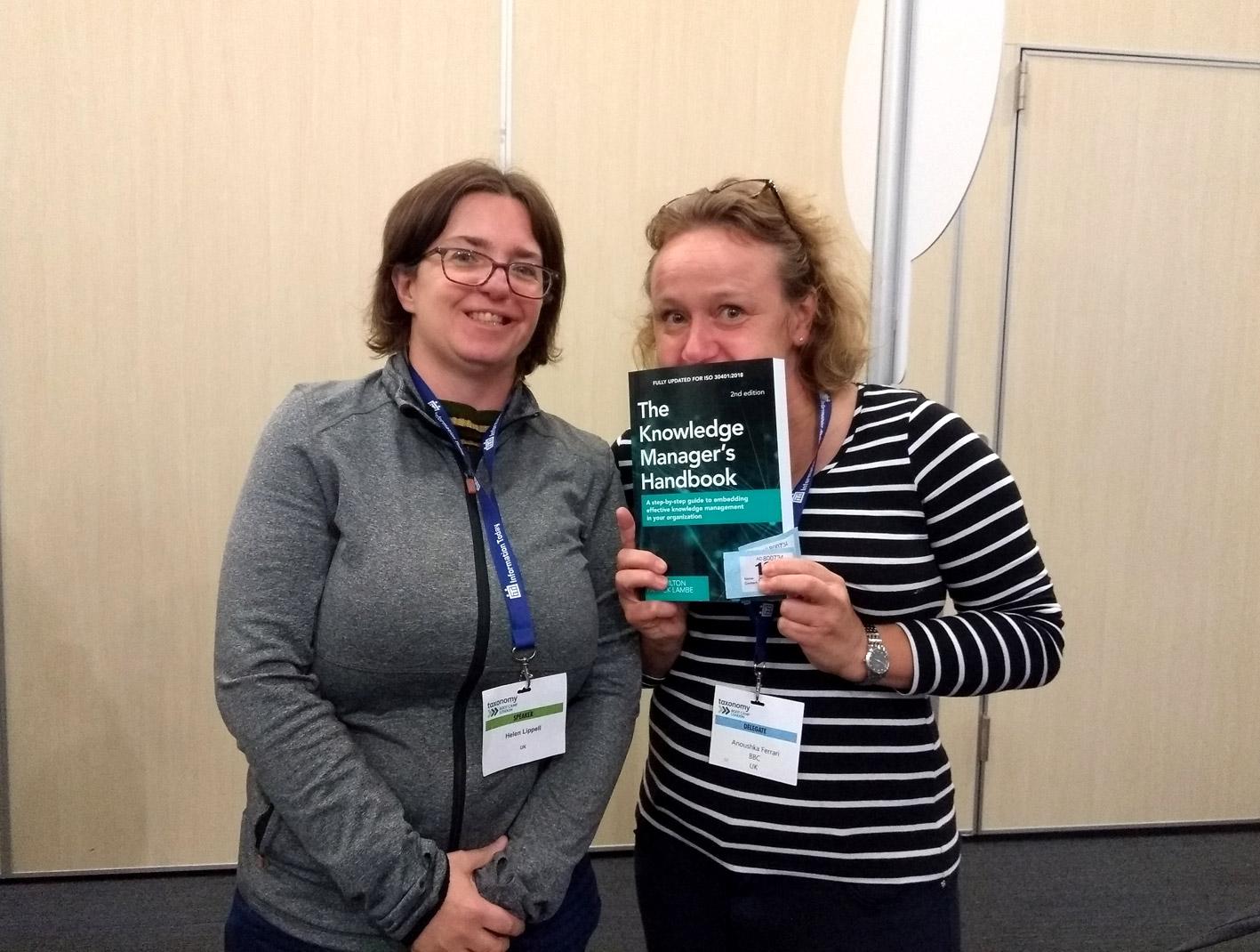 Anoushka Ferrari with Helen Lippell, organiser of the Taxonomy Bootcamp